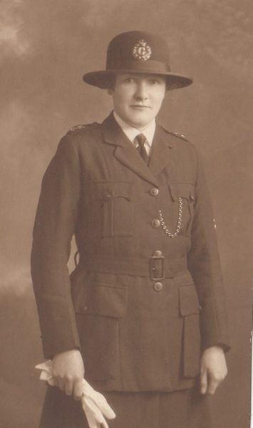 Woman Police Constable Janet Gray. She transferred to Glasgow and became the first woman Inspector of Constabulary in Scotland. (Gloucestershire Police Archives URN 2397)
