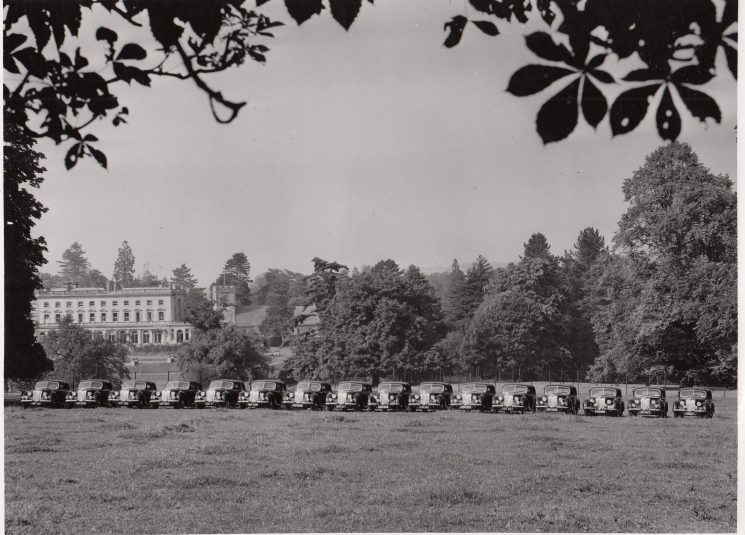 Riley 16 2.5 patrol cars at Cowley Manor. (Gloucestershire Police Archives URN 2104-2)