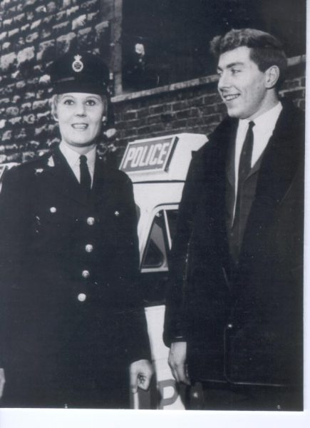 Woman Police Constable Maggie Hall and Detective Constable Ricky Hall earlier in their careers. (Gloucestershire Police Archives  URN 238)