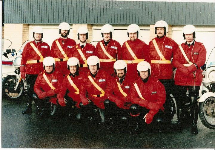 Gold Cup 1984. Back row left to right: Police Sergeant Brian Bailey, Police Constables Martyn Hillier,Dave Jenkins,Mike Fitter,Mel Higgs, John Phelps, Police Sergeant Colin Moore. Front row left to right: Police Constables Bob Addis, Roget Merrett, Ray Leach, Brian Ireland, Chris Bartlett. (Gloucestershire Police Archives URN 2567) | Photograph from Martyn Hillier