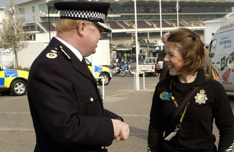 Chief Constable Dr Tim Brain and Miss Ursula Anderson at Bikesafe 2007. (Gloucestershire Police Archives URN 2564) | Photograph from Martyn Hillier