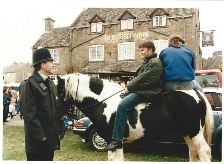 Stow on the Wold Horse Fair around 1992 (Gloucestershire Police Archives URN 2067-9 )