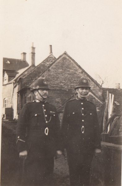 Police Constables Culverwell and Creed on patrol in the 1920s? (Gloucestershire Police Archives URN 2115)