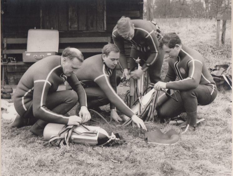 Police underwater team 1970s? (Gloucestershire Police Archives URN 2109)