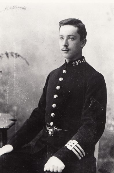 Police Constable 250 thought to be Charles Arthur Welchman joined 23/10/1893. (Gloucestershire Police Archives URN 2101)