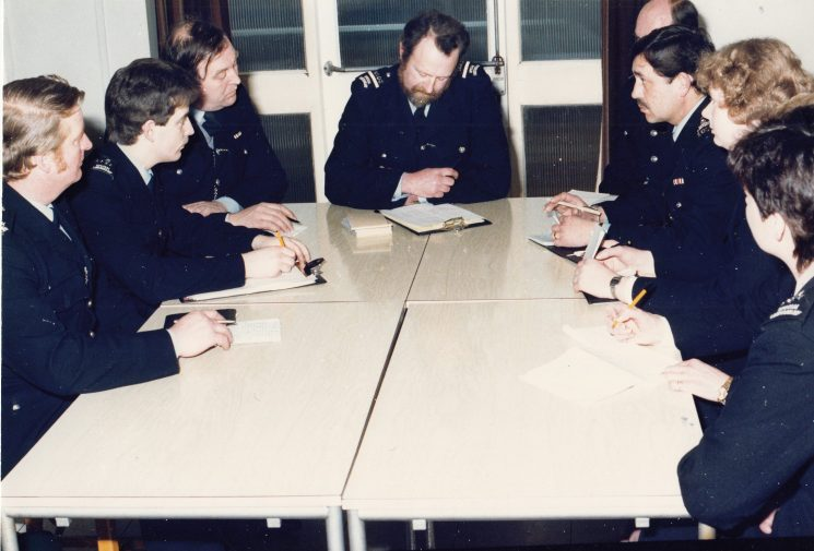 Briefing of Special Constabulary. (Gloucestershire Police Archives URN 2100)