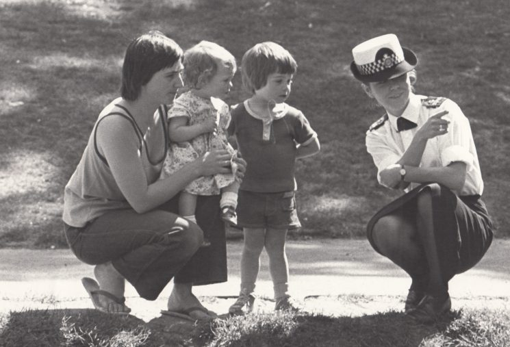 Woman Police Constable Caroline Churches,  (later Bundy) 1980s. (Gloucestershire Police Archives URN 2084)