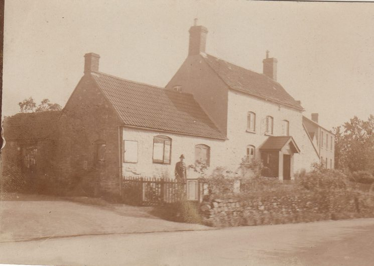 Police Constable Beddis outside Woolaston/Bream police station. (Gloucestershire Police Archives URN 2078-3 )