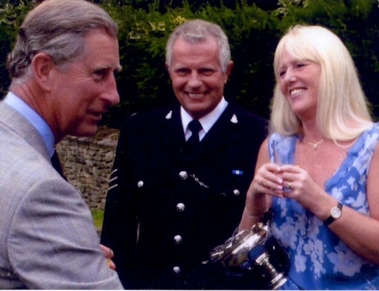 Police Sergeant Ray Pallant and his wife Mary who were jointly awarded the Caroline Symes Memorial Bowl in 2004 for their work with special needs children. (Gloucestershire Police Archives URN 2225)   Photograph from Ray Palant