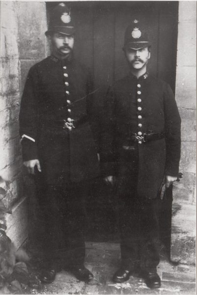 Two Police Officers. One thought  to  be Samuel Beard murdered on duty. (Gloucestershire Police Archives URN 2228)