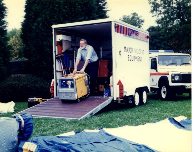 Setting up for a major incident? (Gloucestershire Police Archives URN 2234)