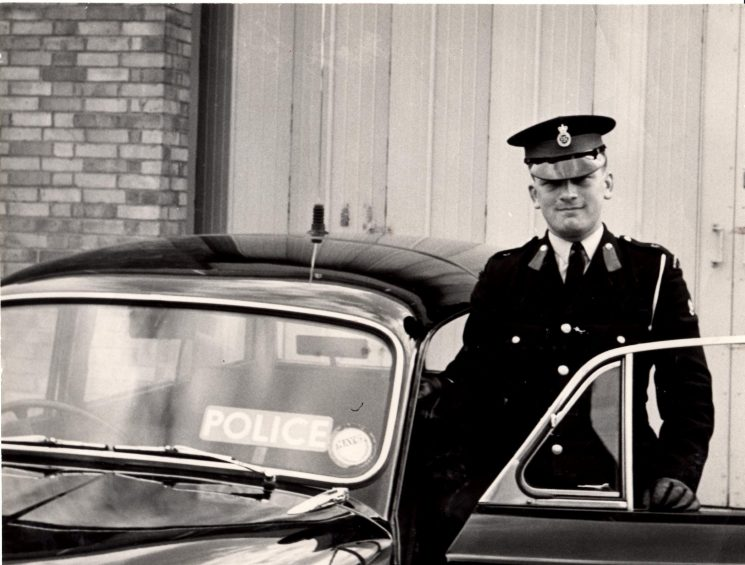 Cadet Peter Kilbey at Tewkesbury. 1962/3. (Gloucestershire Police Archives URN 2128) | Photograph from Pete Kilbey