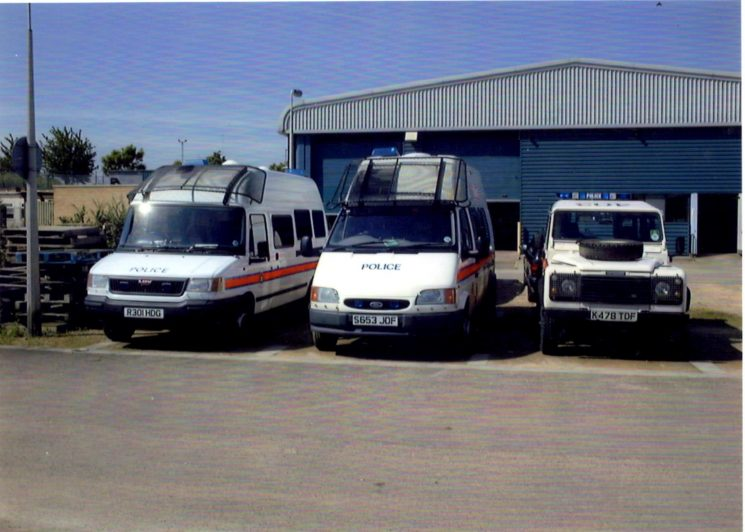 Police vehicles (Gloucestershire Police Archives URN 2246)