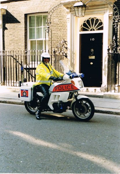Martyn Hiller outside 10 Downing Street. Victory in Europe Day May 1995. (Gloucestershire Police Archives URN 2170-1)  | Photograph from Martyn Hillier