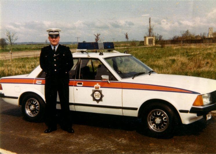 Pete Kilbey  at Brookthorpe ready to escort Princess Anne. (Gloucestershire Police Archives URN 2140) | Photograph from Pete Kilbey