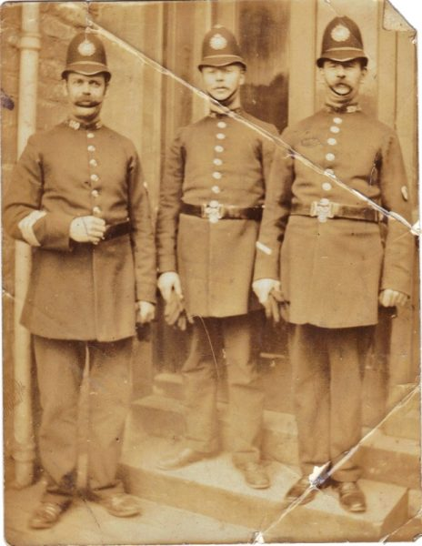 The Sergeant on the left is Robert Smith, the other two are unknown. (Gloucestershire Police Archives URN 2306) | Photograph from Bob Cummings