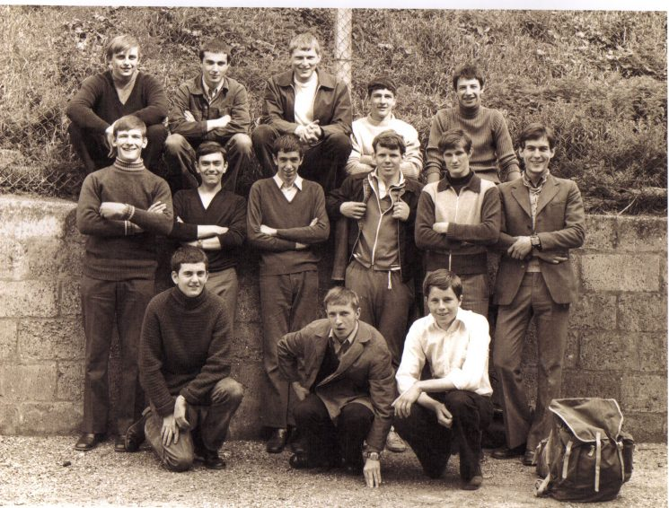 Cadet Road walking team 1973. This was before the start of the race Barking to Southend. Back row Left to right; Martin Speke; Richard Bradley; Police Constable David Hanks;  Jerry Blyth; Robert Coltman. Middle row left to right; steven Parker; Robert Lephard; Graham Rees; Robin Yates; David Stallybrass; Jon Parnell. Kneeling left to right: Trevor Jones; Ian Perry; Paul Tibbles. (Gloucestershire Police Archives URN 2389)