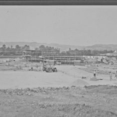 Building on the Lansdown Road site. (Gloucestershire Police Archives URN 2431) | Photograph from an old negative
