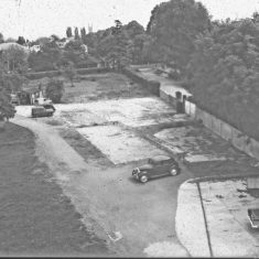 Building on the Lansdown Road site. (Gloucestershire Police Archives URN 2424) | Photograph from an old negative