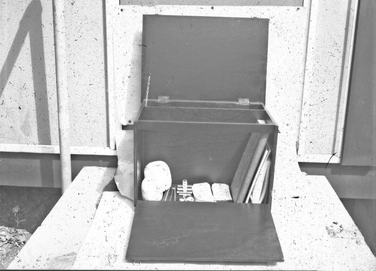 Inside Major Incident Box. (Gloucestershire Police Archives URN 2468) | Photograph from an old negative