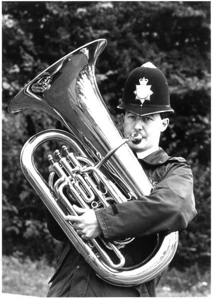 This photograph of Trevor Moss was taken following the formation of the British Police Symphony Orchestra. He was the only Gloucestershire officer to be accepted and remained with them for 25 years. (Gloucestershire Police Archives URN 2382) | Photograph from Trevor Moss