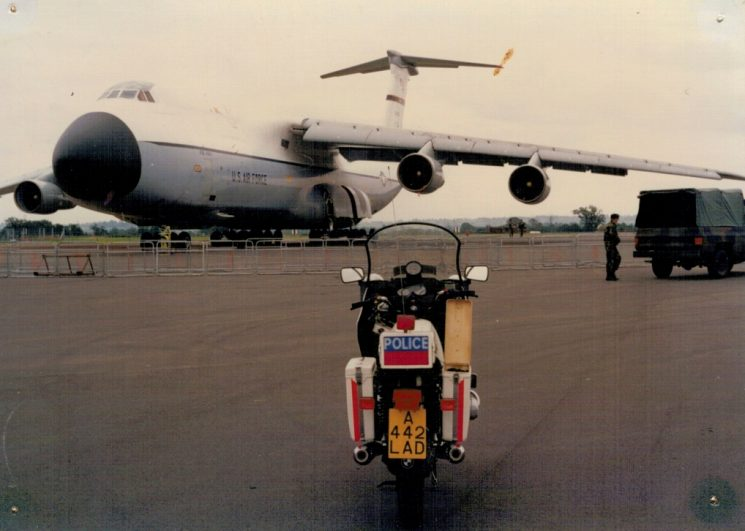Galaxy and BMW motorcycle (Gloucestershire Police Archives URN 2751) | Photograph from Martyn Hillier
