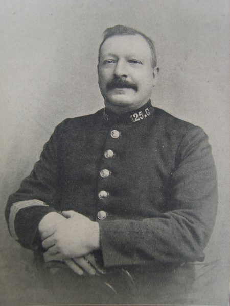 Police Sergeant  125 John Thomas Browning. (Gloucestershire Police Archives URN 2666)