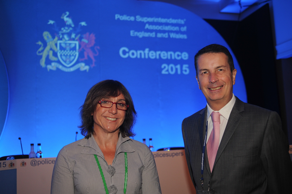 Bee Bailey and Mike Galagher at Superintendents Conference 2015.(Gloucestershire Police Archives URN 2514) | Photograph from Bee Bailey
