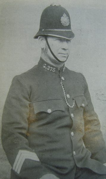 Police Sergeant 275 Walter Chappell. (Gloucestershire Police Archives URN 2663)