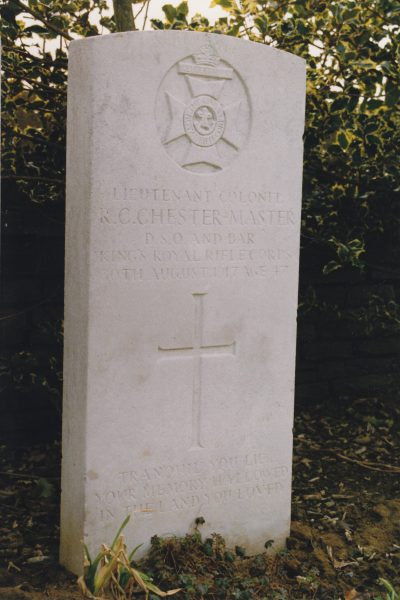 Chief Constable Chester Master's grave . (Gloucestershire Police Archives URN 2668)