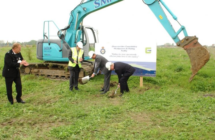 Ground Breaking. (Gloucestershire Police Archives URN 2755)   Photograph from Keith Hodges