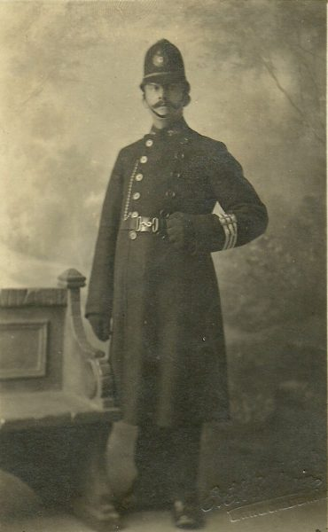 Police Constable 202 Frank Hughes. (Gloucestershire Police Archives URN 2656)