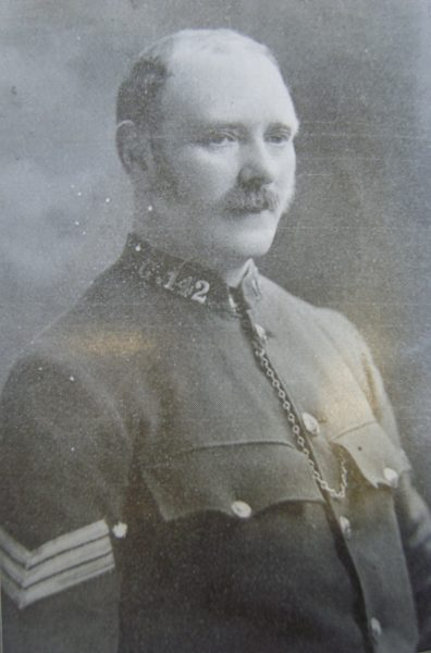 Police Sergeant 142 Thomas Keen. (Gloucestershire Police Archives URN 2654)