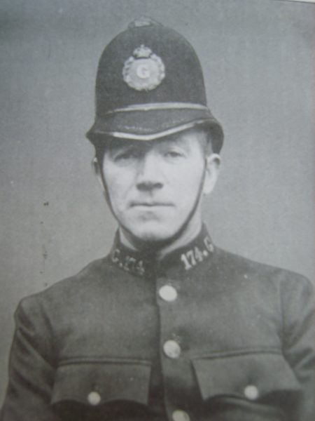 Police Sergeant 174 Thomas Neville. (Gloucestershire Police Archives URN 2652)