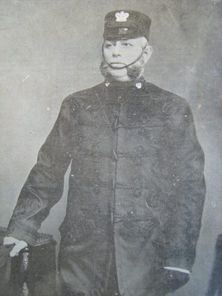 Deputy Chief Constable Nehemiah Philpott joined the police force 19th April 1857, was appointed Superintendent and Deputy Chief Constable on 13th July 1892 and retired on 31st January 1902. (Gloucestershire Police Archives URN 2647)