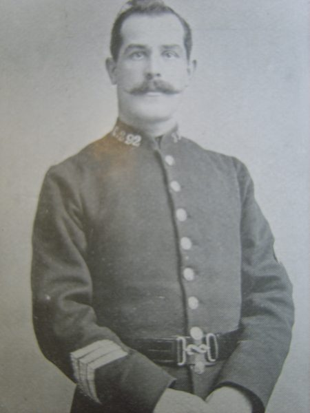 Police Sergeant 292 William Price. (Gloucestershire Police Archives URN 2645)