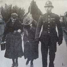 This case was held at Cirencester Police Court where Annie Davenport of Elkstone was accused of attempting to cause the death of Agnes Price by sending her chocolates laced with strychnine through the post. The motive appeared to be that they were both interested in the same man. (Gloucestershire Police Archives URN 2627)