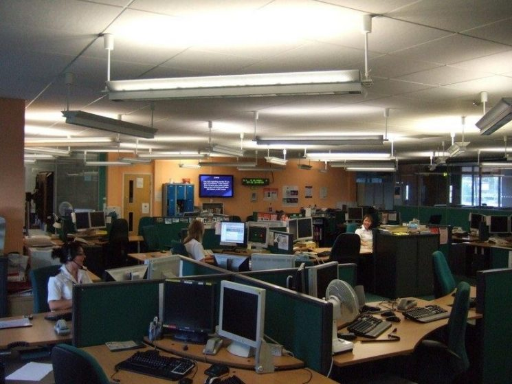 Police Contact Centre August 2010.(Gloucestershire Police Archives URN 2638)