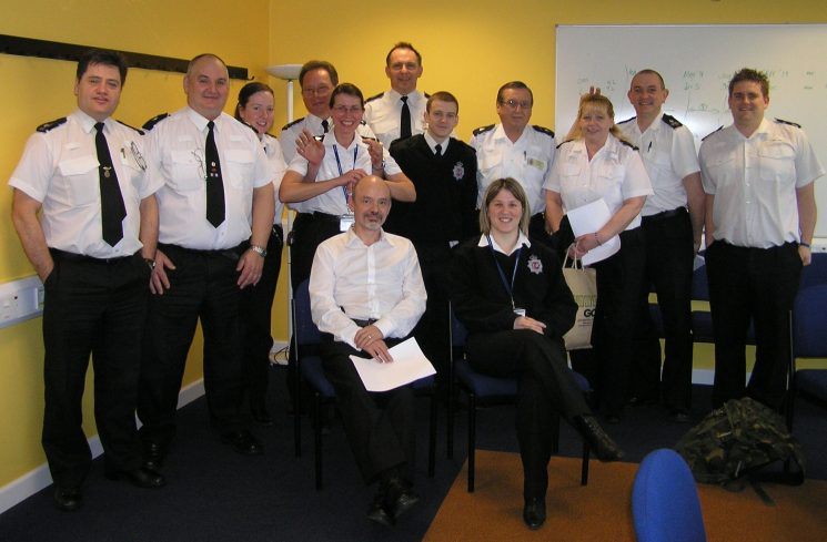Red shift Force Control Room taken during a shift meeting on 01 March 2010. (Gloucestershire Police Archives URN 2639)