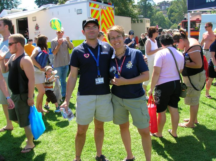 Brighton Pride 2007. Gloucestershire Gay Police Association. (Gloucestershire Police Archives URN 2505) | Photograph from Bee Bailey