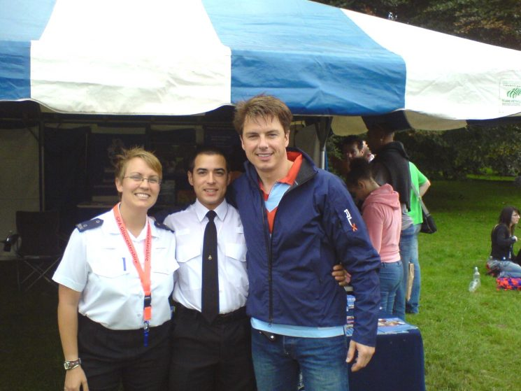 Brighton Pride 2007 with John Barrowman. (Gloucestershire Police Archives URN 2507) | Photograph from Bee Bailey