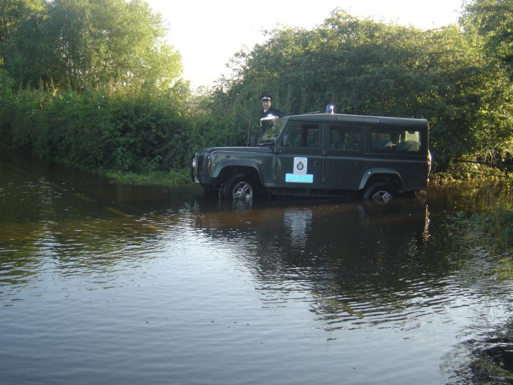 Landrovers can't go everywhere. (Gloucestershire Police Archives URN 2596)