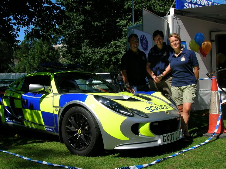 Brighton Pride 2007. Gloucestershire Gay Police Association with lotus. (Gloucestershire Police Archives URN 2508) | Photograph from Bee Bailey