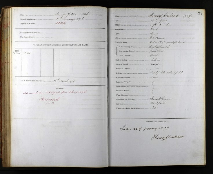 West Riding Police record 2