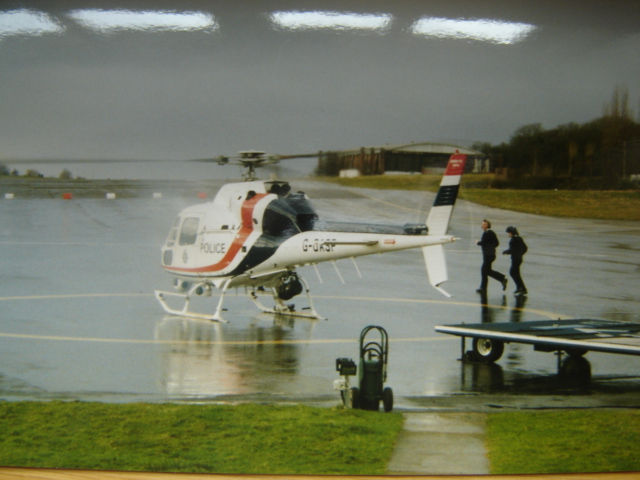 Police Helicopter  Filton (Gloucestershire Police Archives URN 6025)   Photograph from Wayne Freeth-Selway