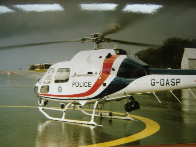 Police Helicopter at Filton (Gloucestershire Police Archives URN 6026) | Photograph from Wayne Freeth-Selway