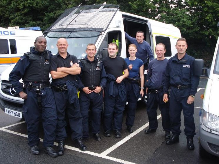 Police Support Unit  - Kent August 2008 (Gloucestershire Police Archives URN 6023) | Photograph from Rob Dike