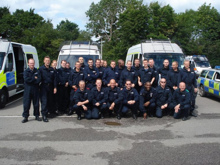 Police Support Unit  - Kent August 2008 (Gloucestershire Police Archives URN 6022) | Photograph from Rob Dike