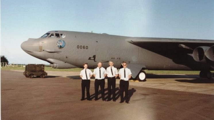 B52  at Air Tattoo Fairford. Green Higgs Blackmore Sullivan (Gloucestershire Police Archives URN 3021) | Photograph from Mike Williams