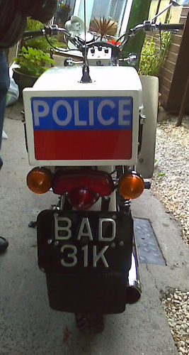 BSA B25 Fleet star (Gloucestershire Police Archives URN 3678)